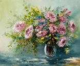 Рожеві троянди, 25*30 см, олія