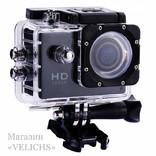 Экшн камера Action Sports с аквабоксом и комплектом креплений