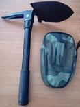 Лопата 5 в 1 универсальная складная , лопата+кирка+пила+открывашка+компас