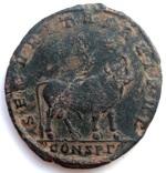 Двойная майорина Юлиан II мон двор Constantinople 362-363 гг н.э. (22_4)