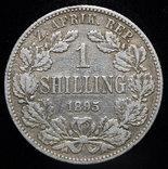 ЮАР шиллинг 1895 серебро photo 1