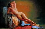 """""""Безмятежность"""" Картина 45х65см Виктор Олейник масло/холст"""