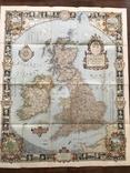 Карта Британских островов 1937 года.