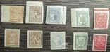 Перші марки України 1918р.дві повні серіі зуб і беззуб