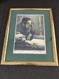 "Рабинович Сауль . (Saul Rabino 1892-1969). Литография ""Eternal light"""