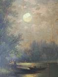 "Одесса, Нх ""Ночной пейзаж"", картон на холсте, 60*30см, фото №4"