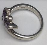 Кольцо, серьги, фиолетовые камни, фото №5