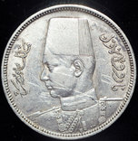 Египет 5 пиастров 1939 серебро photo 2
