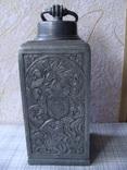 Коллекционный старинный сосуд фляга. Клеймо., фото №2