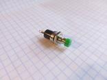 Кнопка малая 2 pin без фиксации ( целеуказатель, дискриминатор 2  Кардинал Профи) зеленая