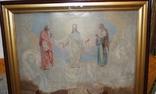 Старинная большая икона в киоте photo 2
