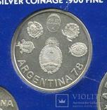 Аргентина 2000 песо 1978 UNC из набора