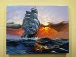 "Картина ""Морской закат"". Холст 35х45 см photo 1"