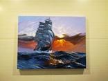 "Картина ""Морской закат"". Холст 35х45 см photo 2"