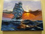 "Картина ""Морской закат"". Холст 35х45 см photo 3"