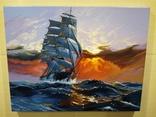 "Картина ""Морской закат"". Холст 35х45 см photo 4"