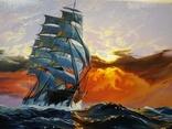 "Картина ""Морской закат"". Холст 35х45 см photo 5"