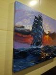 "Картина ""Морской закат"". Холст 35х45 см photo 6"