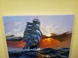 "Картина ""Морской закат"". Холст 35х45 см photo 7"