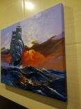 "Картина ""Морской закат"". Холст 35х45 см photo 8"