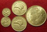 5 серебряных монет Новой Зеландии 1934-1949 г