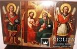 Св.Троица с предстоящими Архистр.Михаилом и Гавриилом 19 век