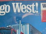 Рельефная табличка сигареты West 53 х 70 см photo 3