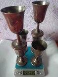 Шесть серебряных рюмок. photo 1