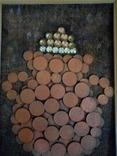 Картина из монет ДЕНЕЖНЫЙ ТАЛИСМАН  АМФОРА., фото №3