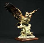 Большая фигура совы. Capodimonte. Италия. (0382)