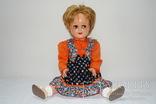 Антикварная кукла, R&W, флиртует, плачет, 64 см, Германия 1945 год.