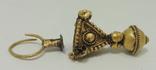 Поломанная золотая серьга, раннее средневековье photo 2