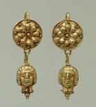 Пара античных золотых серег photo 1