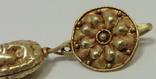 Пара античных золотых серег photo 3