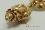 Пара античных золотых серег photo 4