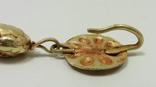 Пара античных золотых серег photo 5