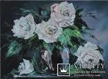Розы в вазе 30/40 холст ,масло на двп