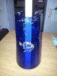 Ваза синее стекло 50-е годы, фото №5