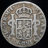 Перу 2 реала 1786 Лима серебро