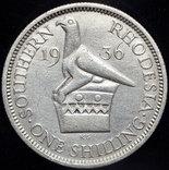 Британская Южная Родезия шиллинг 1936 серебро