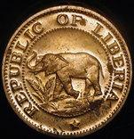 Либерия 1 цент 1973 пруф