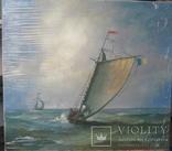 Картина Парусник 40 х 45 холст, масло худ. Мацегора Е.В.