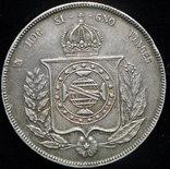 Бразилия 1000 рейс 1853 серебро