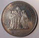 Франция 50 франков 1974г. 900 проба 30 грамм Геракл unc photo 1