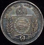 Бразилия 500 рейс 1853 Unc серебро