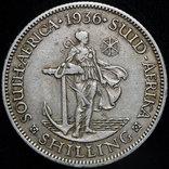 Британская Южная Африка 1 шиллинг 1936 серебро