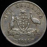 Австралия шиллинг 1914 серебро