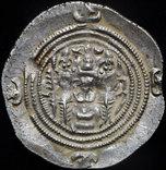 Иран Сасаниды драхма Хусро II 625 г.н.э. серебро