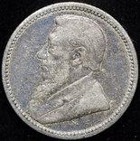 ЮАР 6 пенсов 1895 серебро photo 1