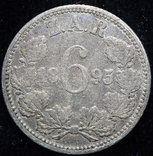 ЮАР 6 пенсов 1895 серебро photo 2